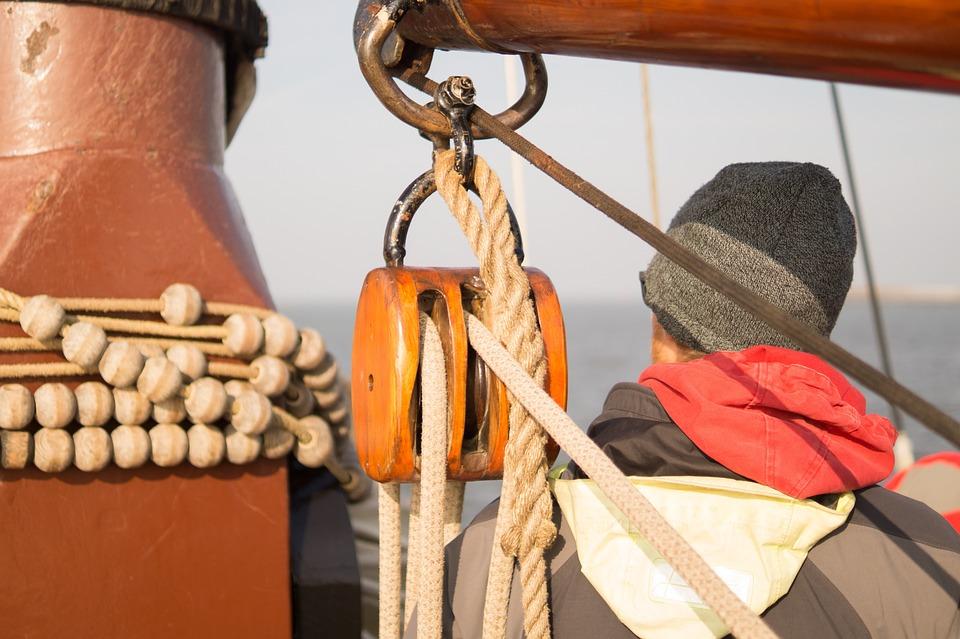 Sailor, Sea, Boat, Sailing, Knots, Mast, Rope, Pulley