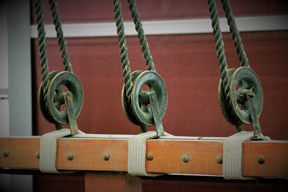 Pulley, Rope, Equipment, Ship, Boat, Yachting, Metal