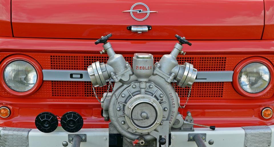 Fire, Pump, Opel Blitz, Vehicles, Fire Truck