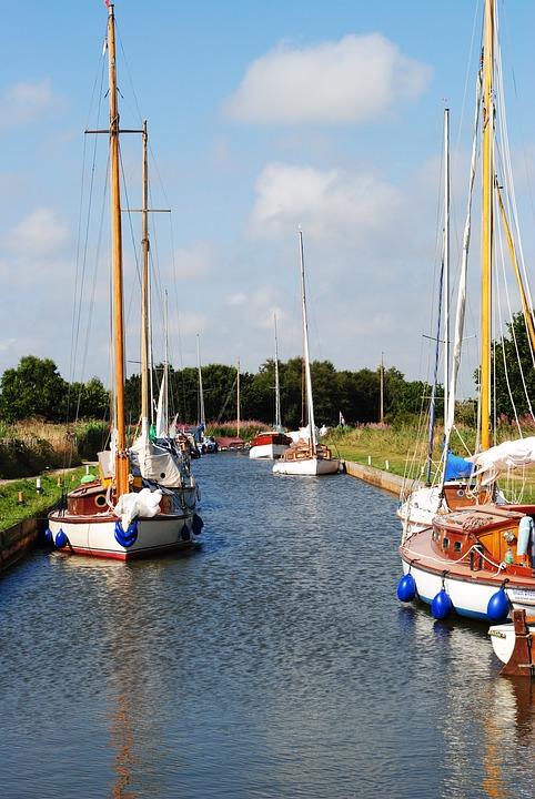 Horsey, Wind, Pump, Norfolk, Broads, Water, Boats
