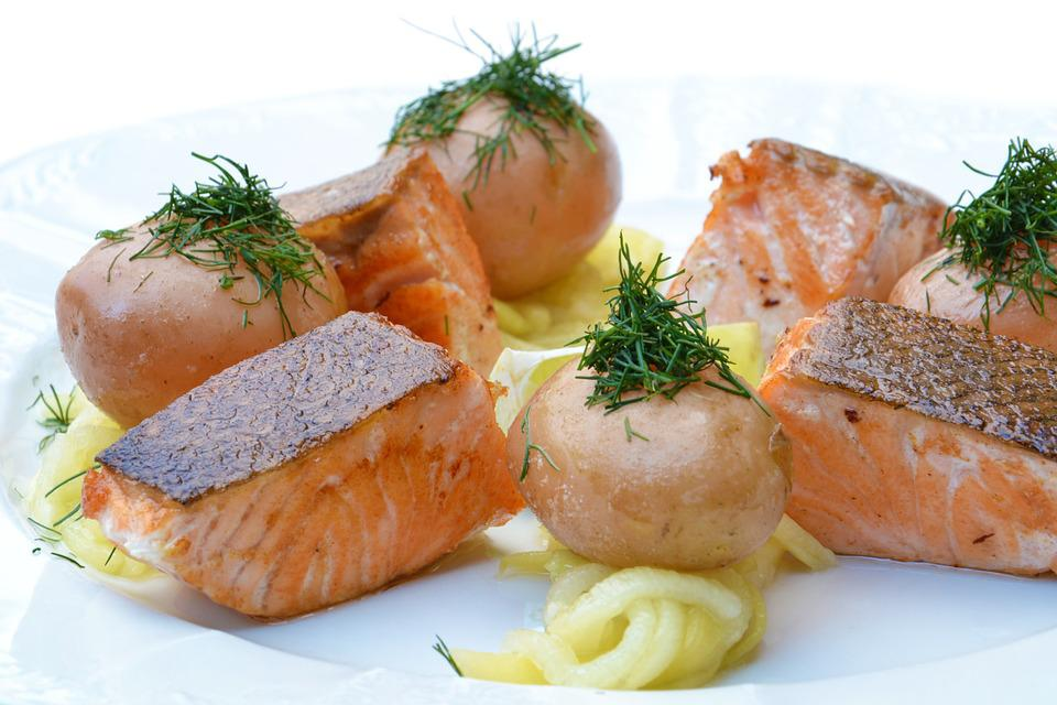 Salmon, Food, Pumpkin