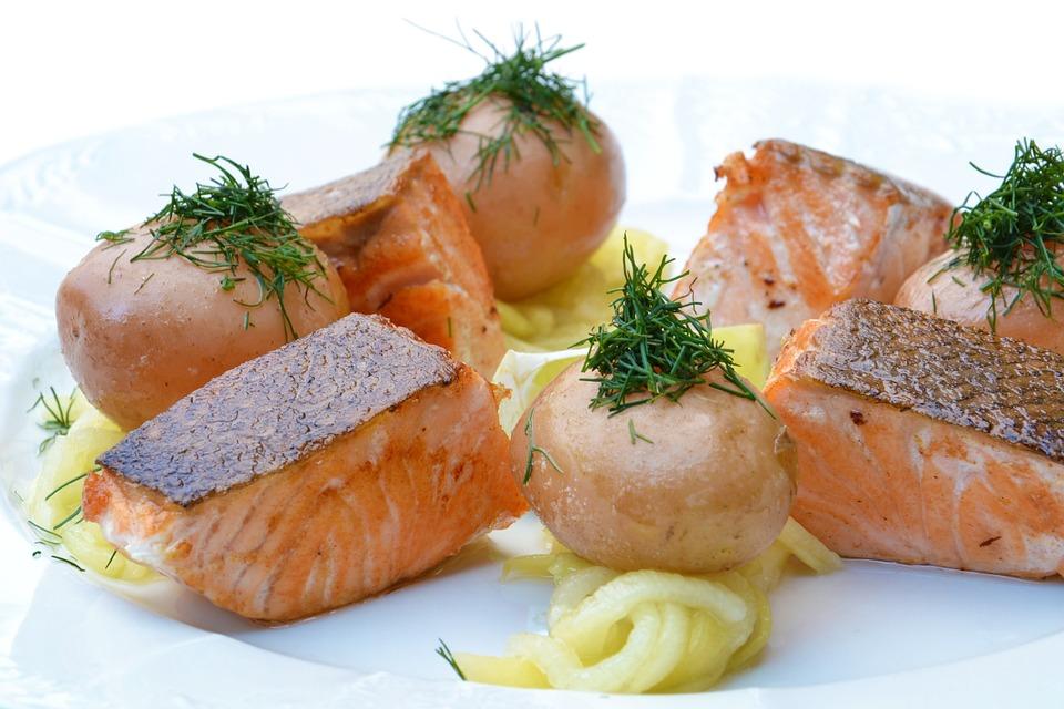 Salmon, Food, Pumpkin