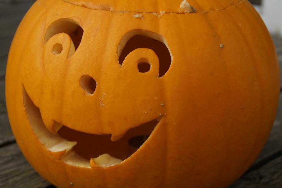 Pumpkin, Pumpkin Ghost, Face, Halloween, Autumn