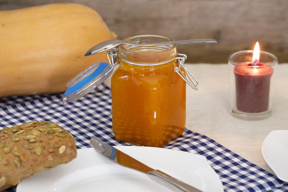 Pumpkin Jam, Jam, Spread, Glass, Pumpkin, Jar Of Jam