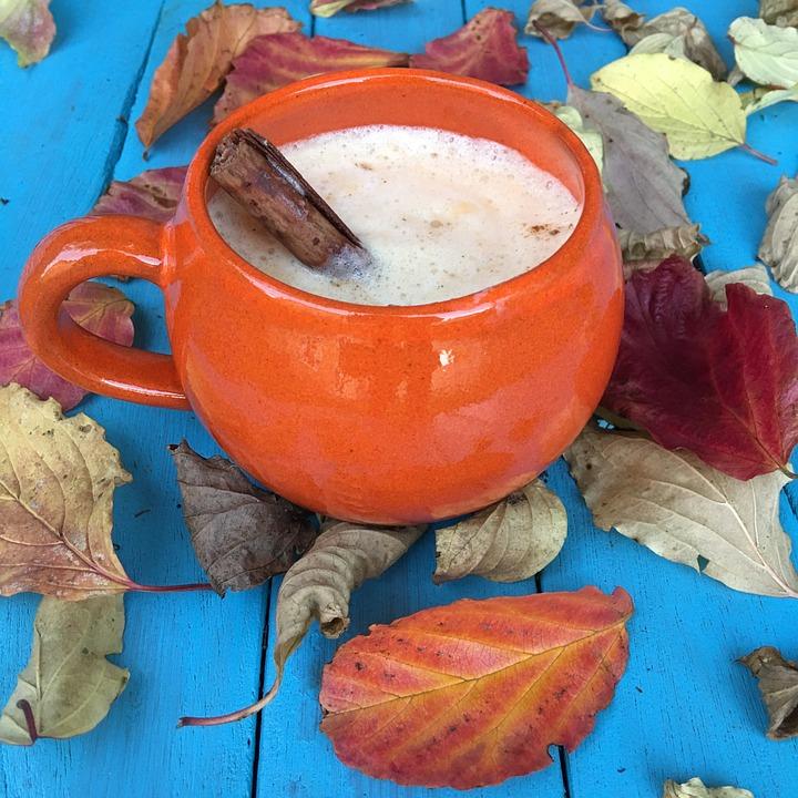 Autumn, Leaves, Foliage, Latte, Drink, Coffee, Pumpkin