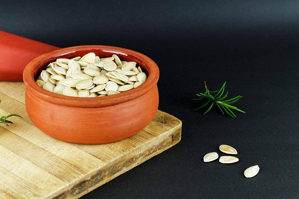 Pumpkin Seeds, Pot, Dry, Earthen Pot, Healthy Eating