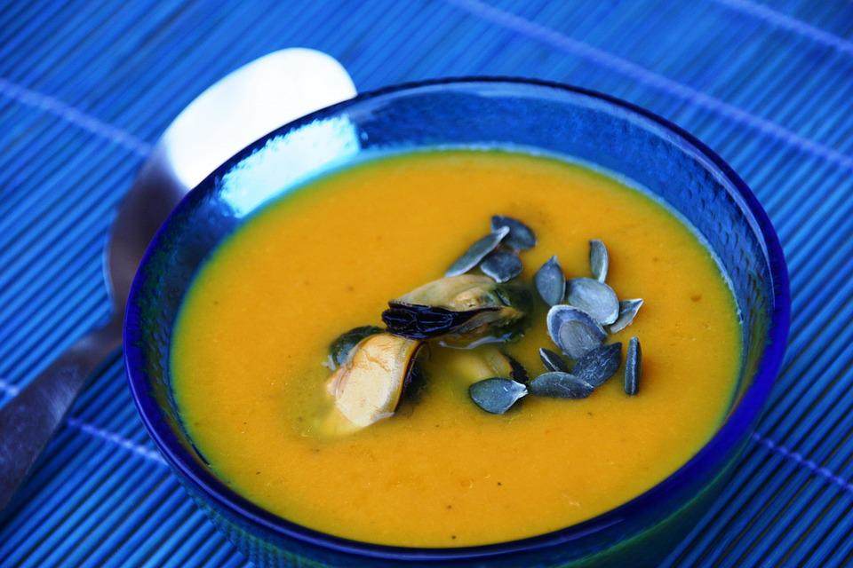 Soup, Food, Vegetable, Hors D'oeuvres, Healthy, Pumpkin
