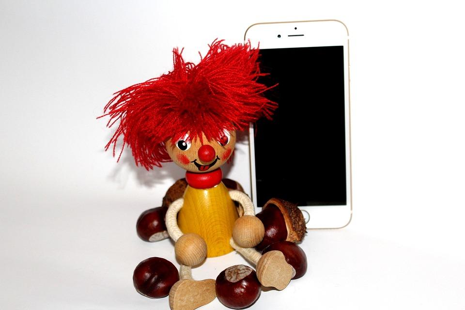 Pumuckl, Iphone, Kids, Holzfigur, Child, Close, Carved