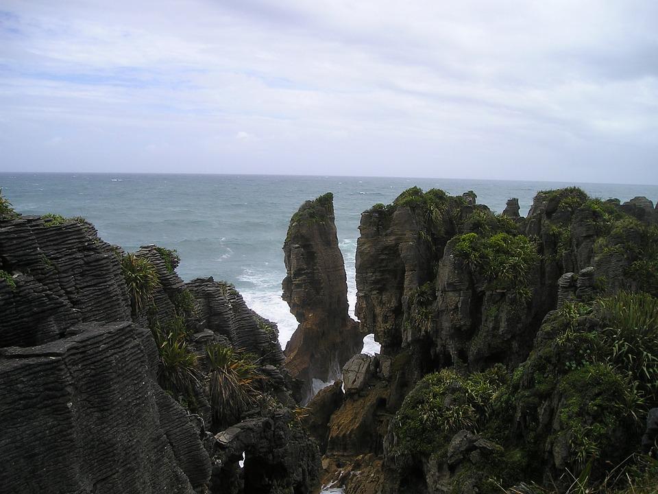 Pancake, Stones, Punakaiki, New Zealand, Rocky Coast