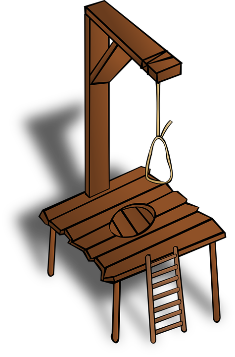 Gallows, Hanging, Wooden, Construction, Punishment