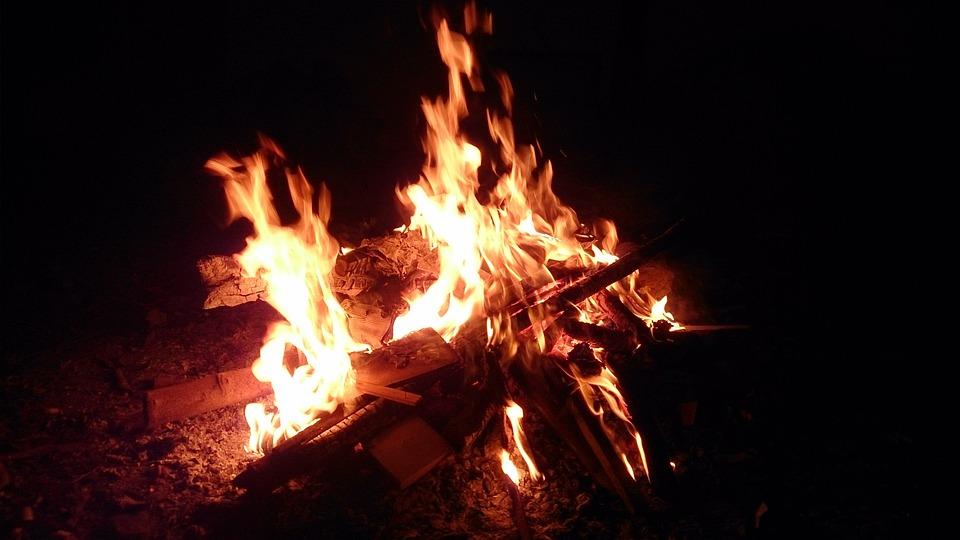 Lohri, Fire, Bonfire, Festival, India, Punjab