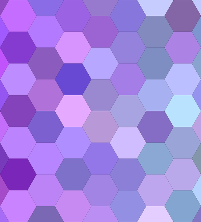 Purple, Hexagon, Background, Cell, Pattern, Mosaic