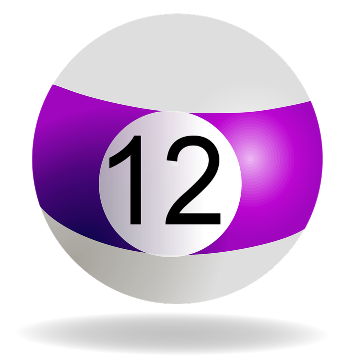 Billiard Ball, Purple, 12, Pool, Billiard, Game