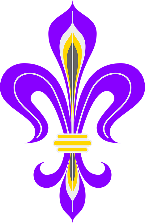 Lily, Heraldic Lily, Princely Lily, Purple