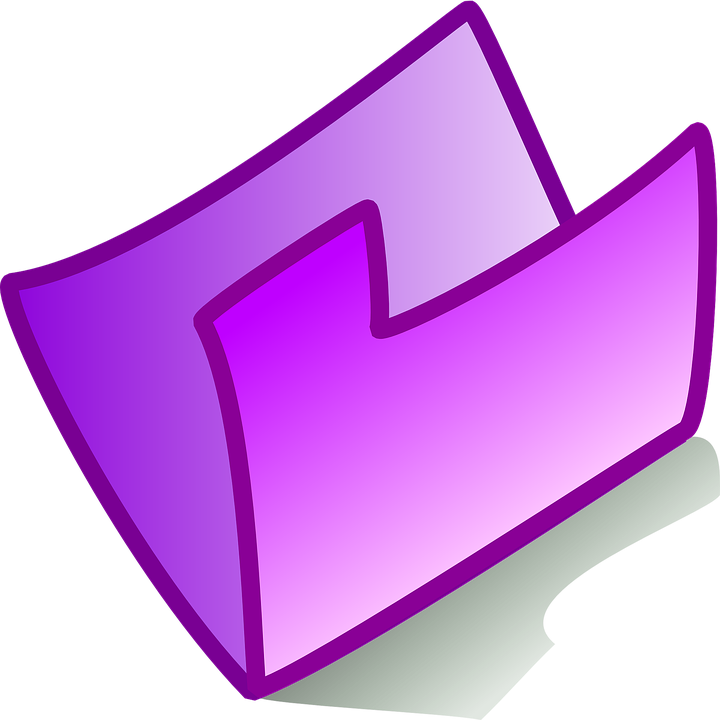 Folder, Icon, Purple, Empty, Open, Symbol, Sign, File