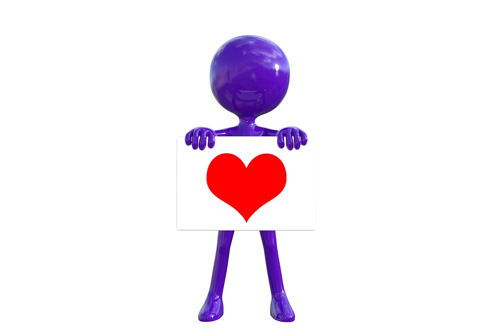 Love, Heart, Unity, Purple Man, 3d