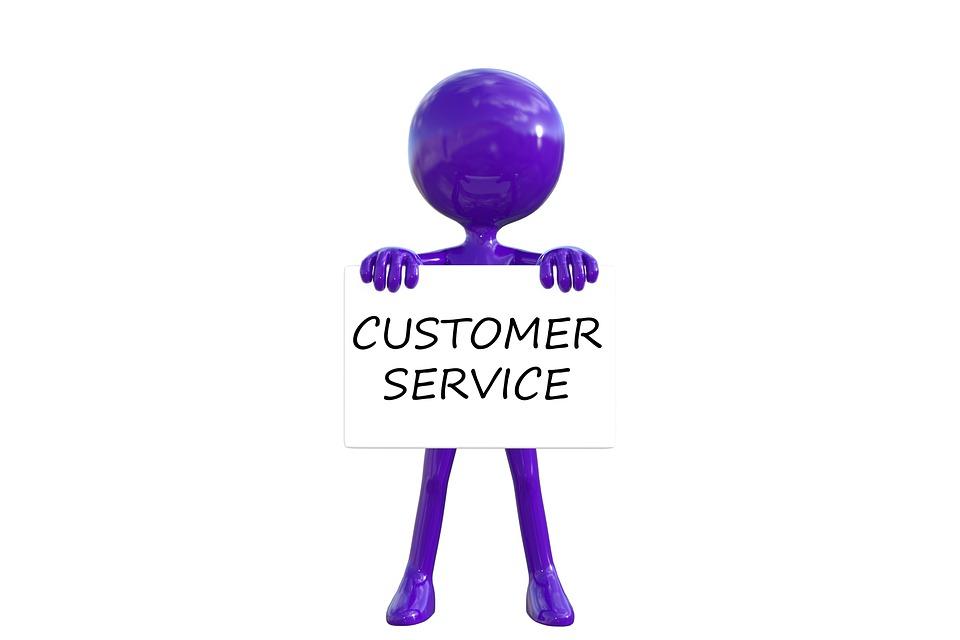 Customer Service, Quality, Communication, Purple Man