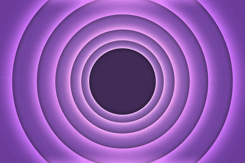 Circles, Retro, Bullseye, Background, Mauve, Purple