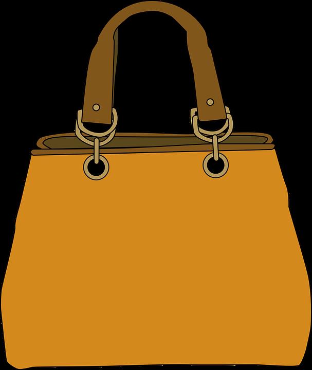 Purse, Pocketbook, Handbag, Straps, Brown, Accessories