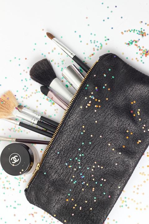 Brush, Purse, Makeup, Cosmetic, Stars, Bag