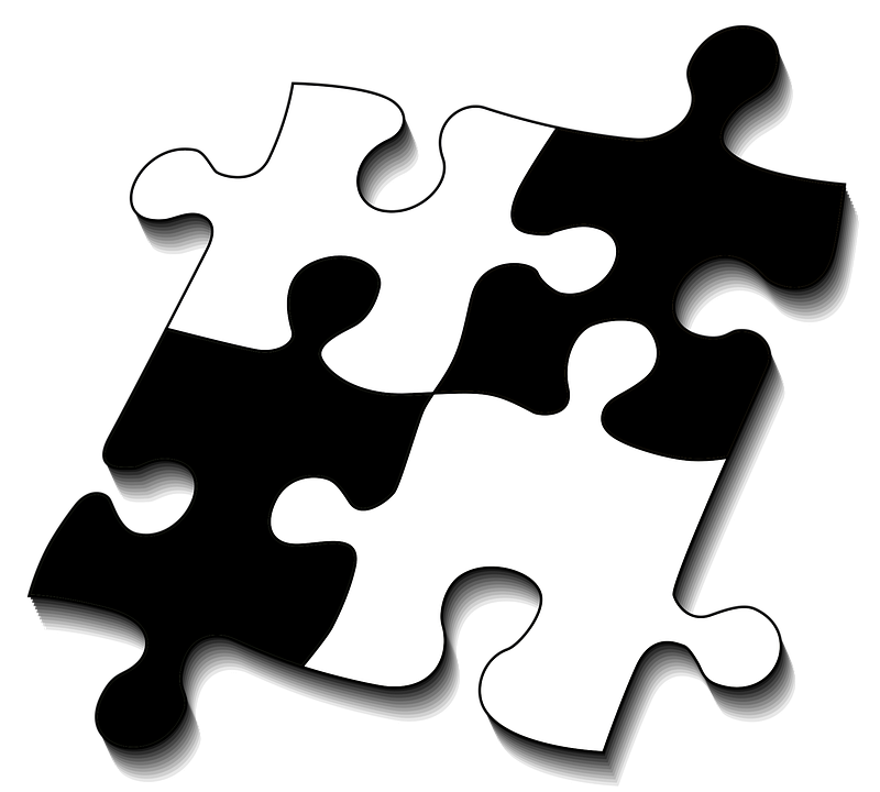 Puzzle, Share, Four, Fit, Piecing Together, Play