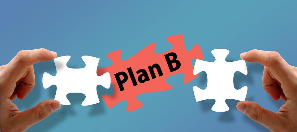 Plan B, Puzzle, Development, Concept, Business Idea