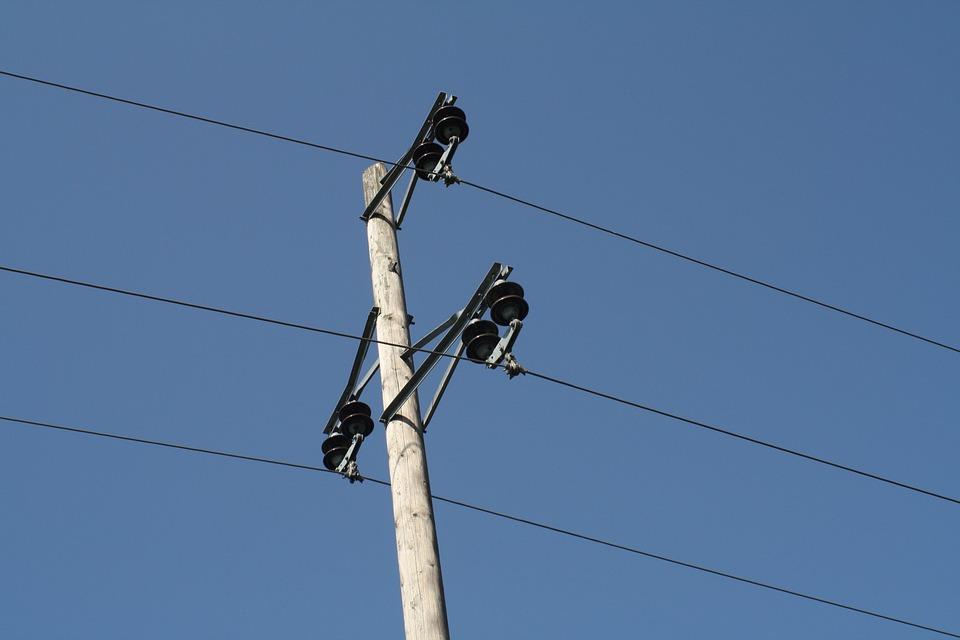 Strommast, Line, Electricity, High Voltage, Pylon