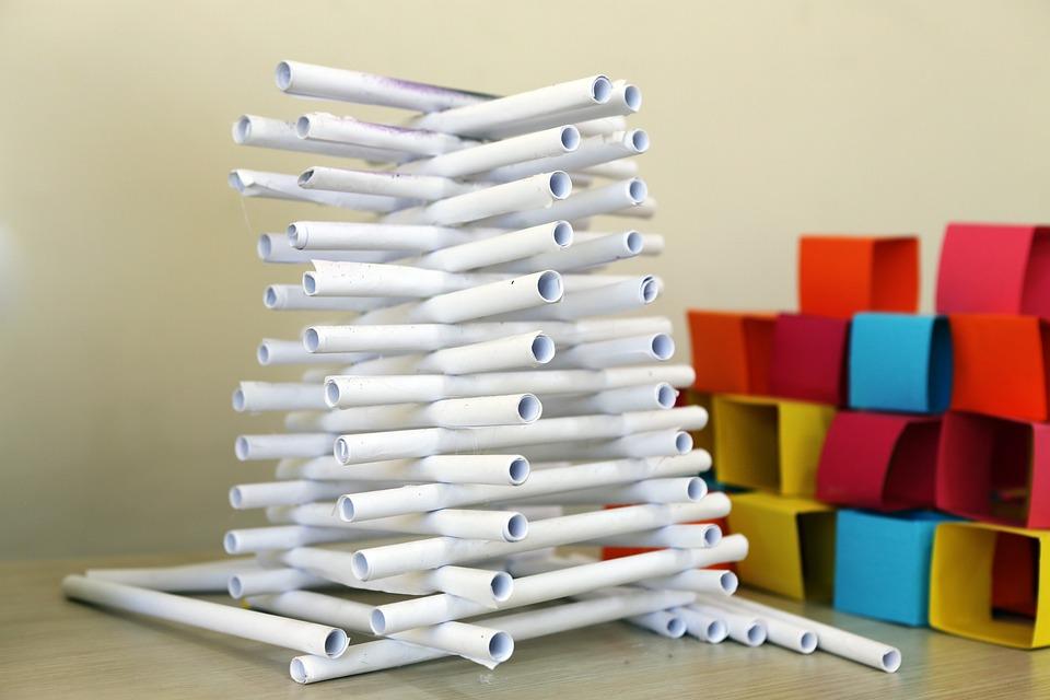 Art, School, Paper, Pyramid
