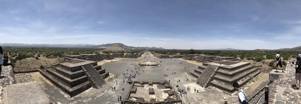 Teotihuacan, Mexico City, Pyramid, Mexico, Esplanade