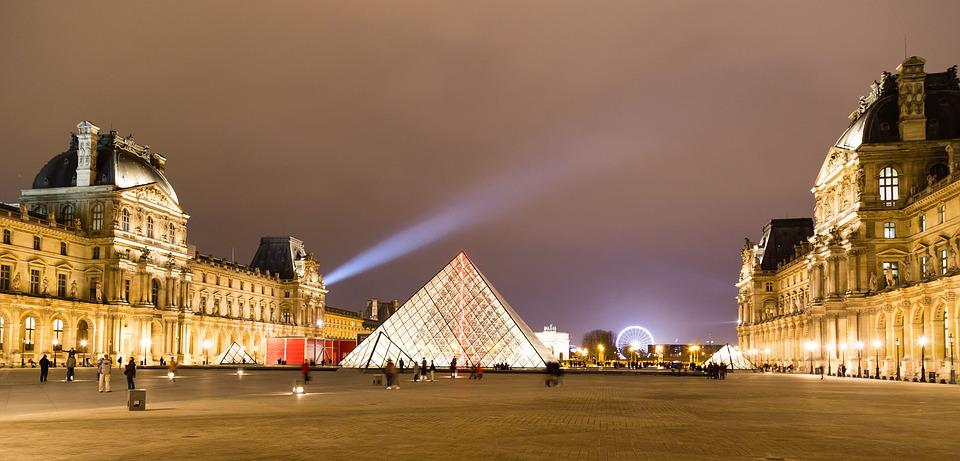 Louvre, Paris, Pyramide, Architecture, Buildings