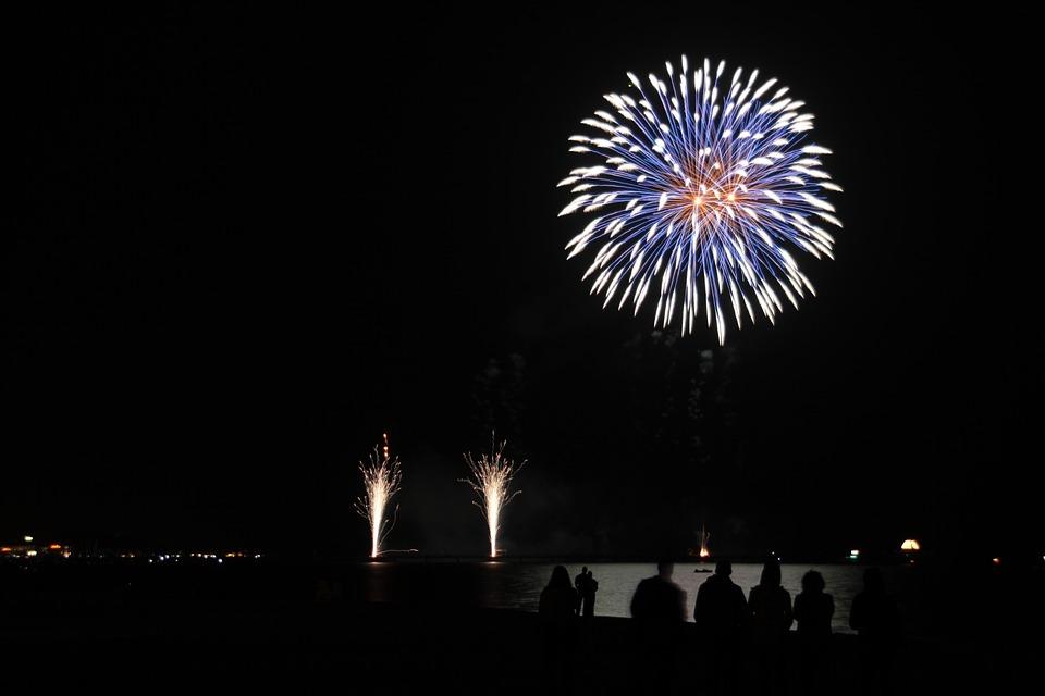 Baltic Sea, Fireworks, Pyrotechnics, Night