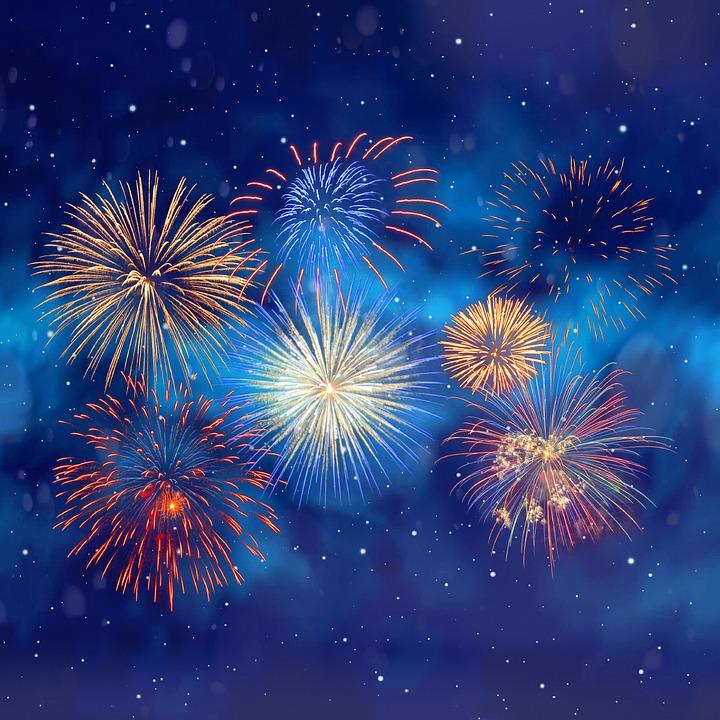 Fireworks, Stars, Background, Pyrotechnics