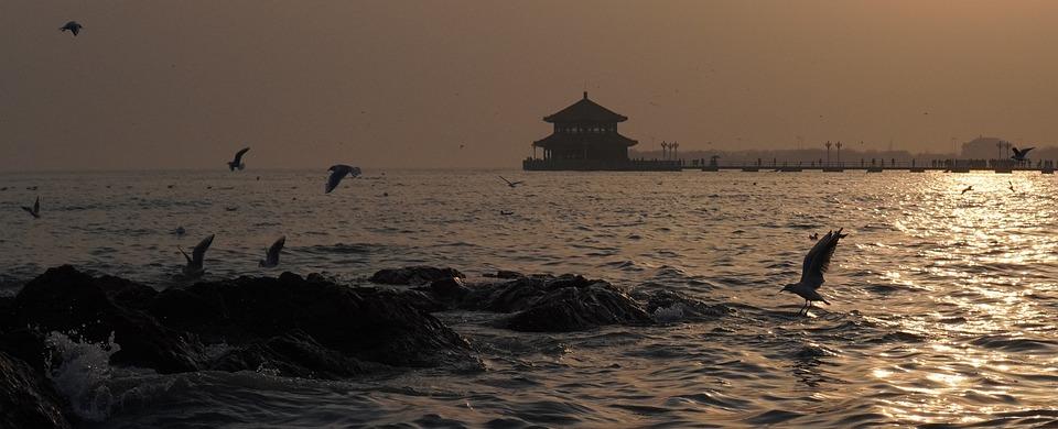 Qingdao, Sunset, Sea
