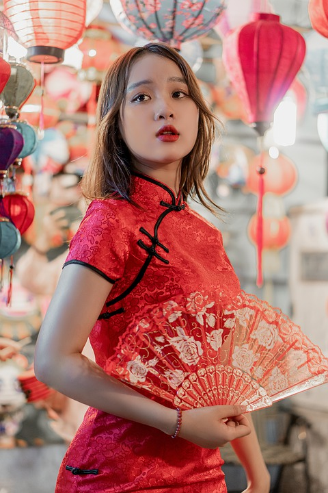 Girl, Model, Qipao, Qipao Dress, Cheongsam