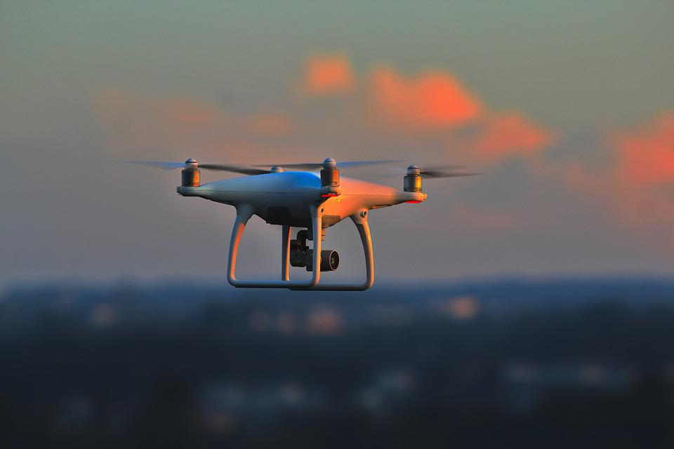 Drones, Evening Light, Sunset, Dji, Quad Copter