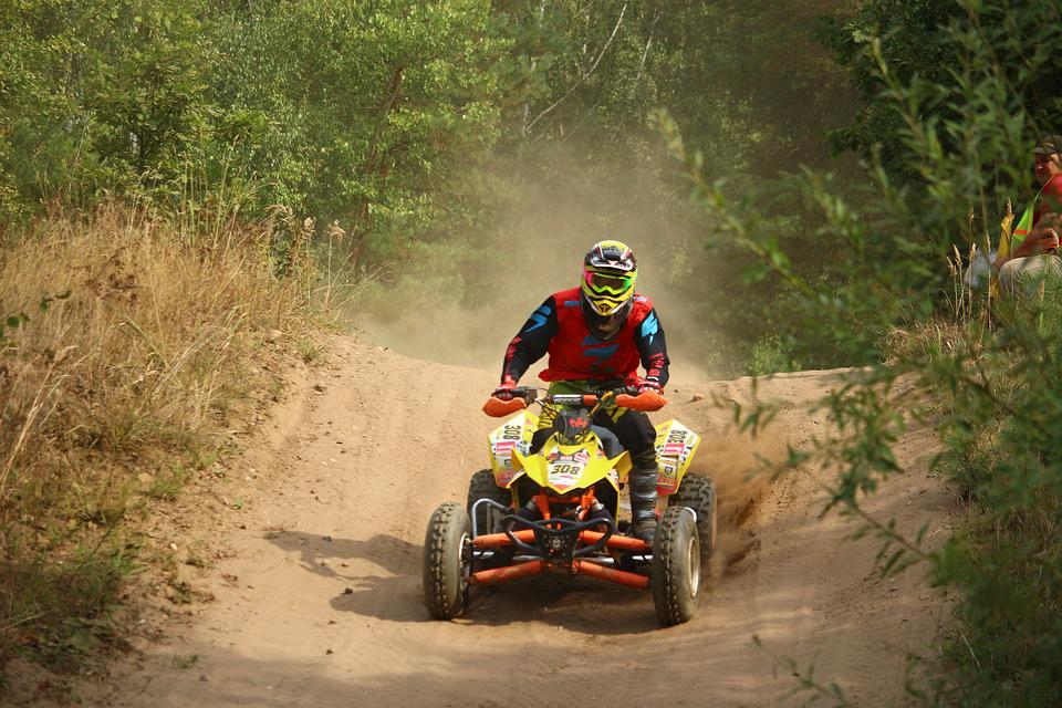 Quad, Atv, Cross, Motocross, Enduro, Motorsport, Sand
