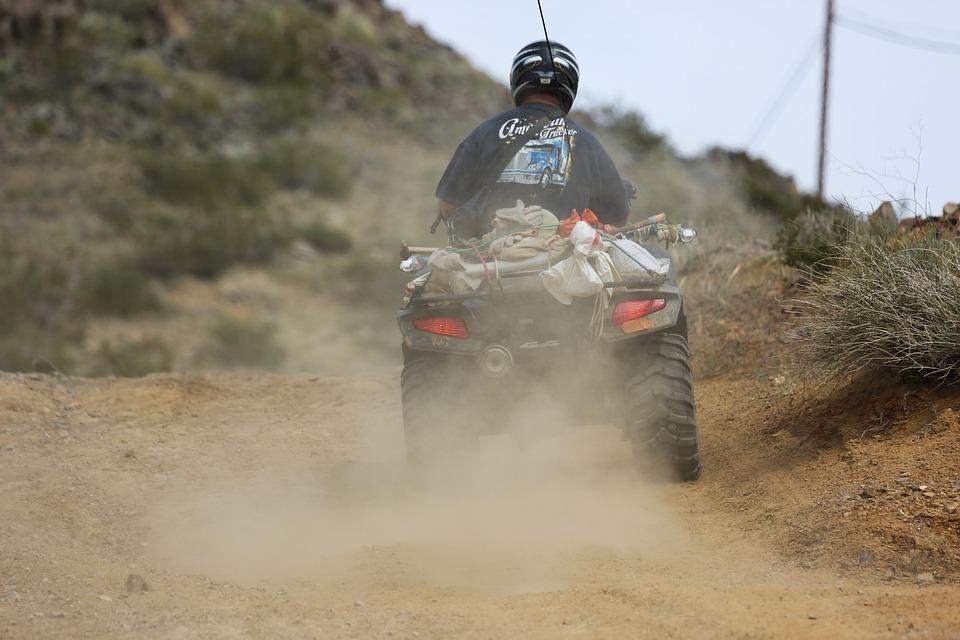 Quadricycle, Usa, Desert, Motorbike, Dust, Drive, Man