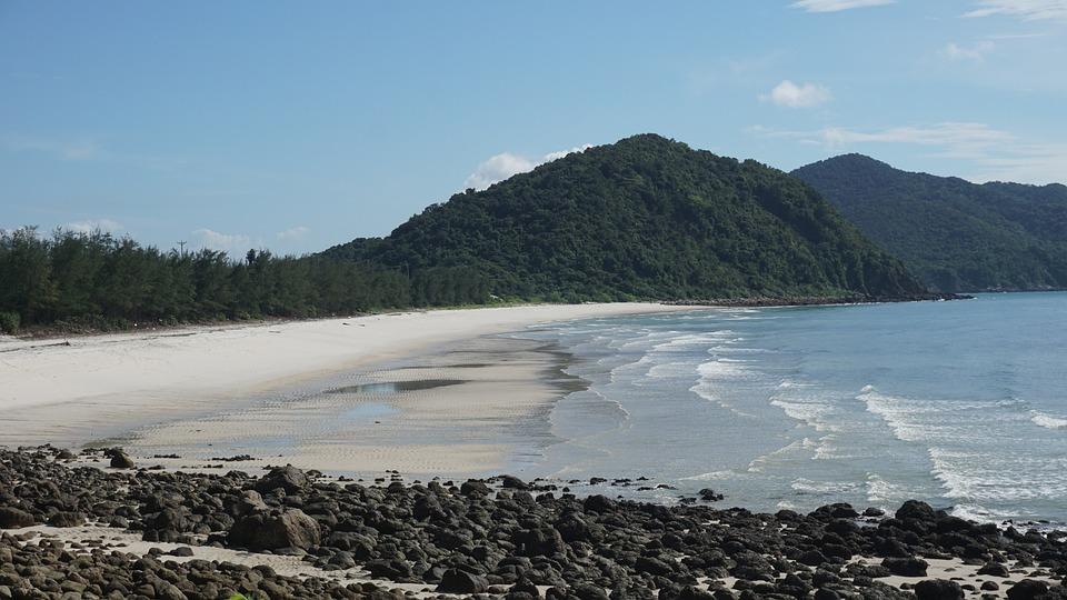 Minh Chau Beach, Van Don Island, Quang Ninh, Viet Nam