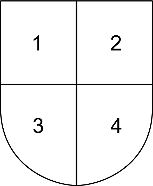Four, Parted, Quarterly, Divided, Part, Divider