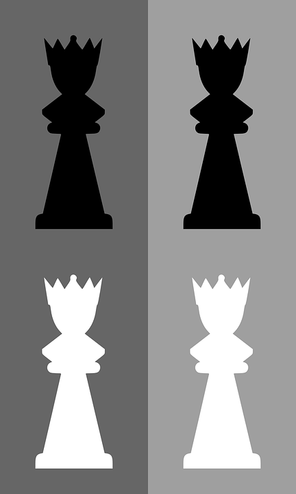 Chess, Queen, Game, Meeple, Black, Power, Play, Tactics