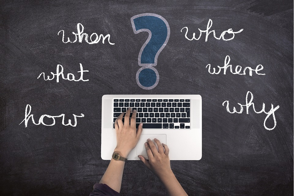 Questions, Laptop, Hand, Write, Blog, Who, What, How