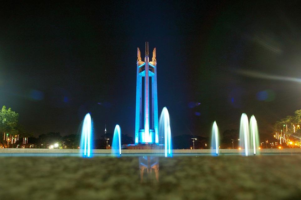 Quezon City, Night, Philippines, Monument, Architecture