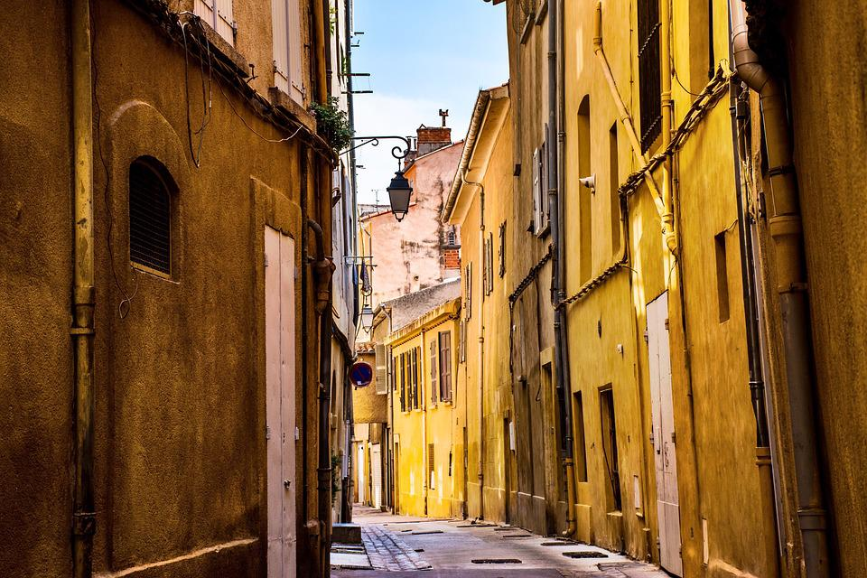 City, Street, Empty, Quiet, Provence, France, Europe
