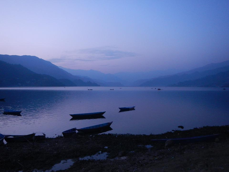 Nepal, Pokhara, Peace, Calm, Lake, Blue, Boat, Quiet