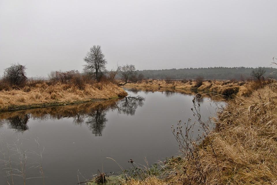 Landscape, Nature, Autumn, Quiet River