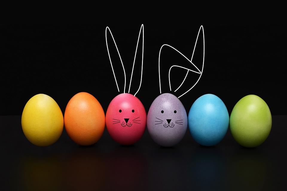 Easter, Egg, Easter Egg, Rabbit, Ears, Funny, Color