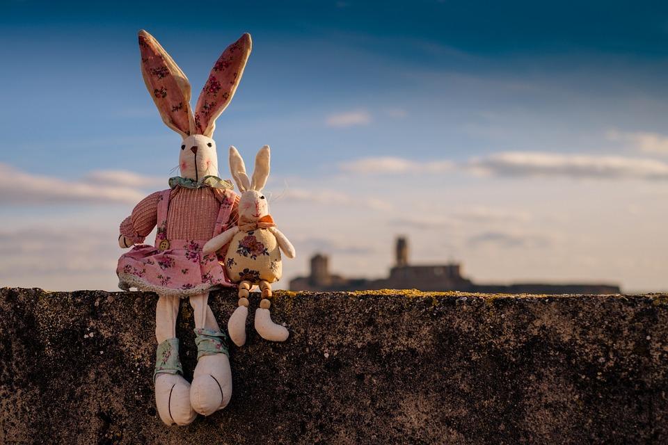 Rabbit, Animals, Pet, Children Toys, Teddy, Sky