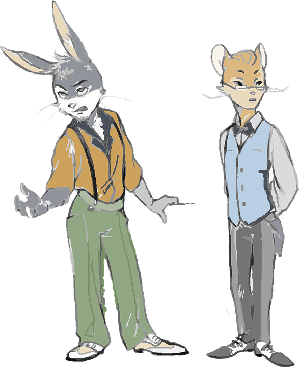 Dressed Up Animal, Rabit And Mouse, Pants