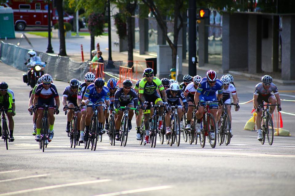 Cyclist, Race, Bike, Biking, Helmet, Recreation