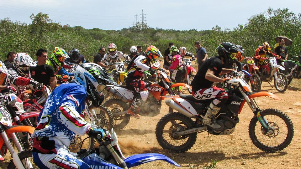 Scramblecross, Motocross, Race, Start, Competition